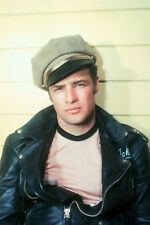 Marlon Brando iconic in black leather jacket The Wild One 11x17 Mini Poster