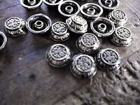 Decorative Rivets • Carved Bowl patterned • Silver toned • 12mm  •  Qty 20