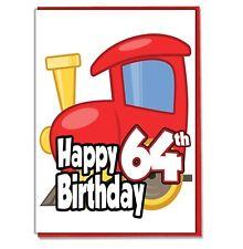 Juguete Tren 64th Tarjeta Cumpleaños - Hombre Hijo Marido Amigo Brother