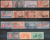 Regno d'Italia 1903/33 Espressi n. 1/7 + 9/16 usati (m1328)