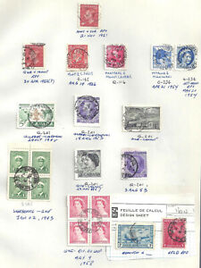 Canada SELECTION OF DATED RAILWAY POST OFFICES (RPOs) USED (BS18977)