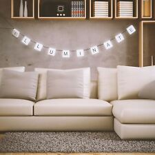 210cm Cinematic Personalised Scrabble Hanging Letters String Light Rope LED Lamp