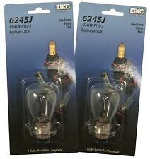 (2) Peak 6245J Clear Light 12.8V 45/45W RP-10 P15D-3 Halogen Bulb Headlamp A7028
