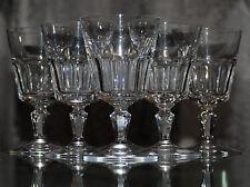 ANCIENNE Service 6 VERRES a EAU OU VIN en cristal de Baccarat signée OFFRE DISPO