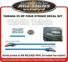 YAMAHA 25 hp four stroke outboard Decal kit , reproductions