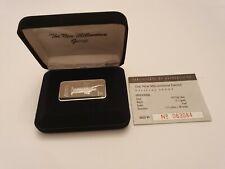 1oz Statue of Liberty Silver Ingot Bullion Bar in presentation box & COA #63084