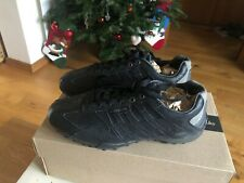 Geox Womens Leather Trainers Casual Comfort Shoes All Plain Black RRP£70 SIZE-39