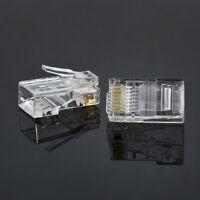 100pcs 8Pin RJ45 Modular Plugs Network Ethernet Crystal Plug for Cat5/5e Cable