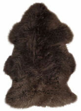 Large Super Soft Mink Brown Genuine Real Luxury Extra Thick Sheepskin Rug Pelt