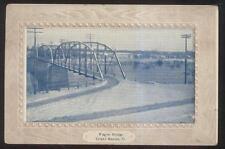 Postcard GRAND RAPIDS Iowa/IA  Triple Arch Steel Span Wagon Bridge view 1907