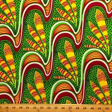 African Print Fabric 100% Cotton 44'' wide sold by the yard Feather (90106-2)