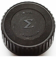 Original Sigma Rear Lens Cap For Minolta MD Mount Lenses Made in Japan