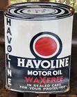 VINTAGE+HAVOLINE+MOTOR+OIL+CAN+PORCELAIN+GASOLINE+GAS+STATION+PUMP+PLATE+SIGN