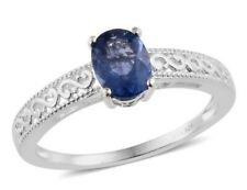 Color Change Fluorite Solitaire Ring925 Sterling Silver; Sz 11; 1.5ctw; 2.42gm