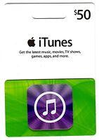 iTunes Gift Card $50 US Apple | App Store Key Code | American USA | iPhone etc..