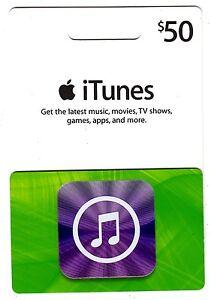 Itunes Cadeau Carte $50 Nous Usd Apple Application Magasin Clé Code American USA