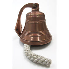 "Solid Aluminum Ship's Bell 6"" Copper Finish Nautical Hanging Wall Decor New"