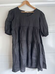 Dissh Linen Black Dress - BNWOT