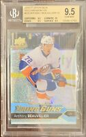2016 17 Anthony Beauvillier SPECKLED RAINBOW FOIL YOUNG GUNS ROOKIE RC BGS 9.5