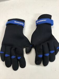Shimano Neoprene Fishing Gloves, Size Large, Great Condition