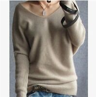 Women's Fashion Pullovers Autumn&Winter Cashmere Sweater V-neck Knitted Sweaters