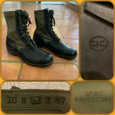 VTG 1967 Deadstock US Army Jungle Boots 10W Spike Protective 60s Combat Military