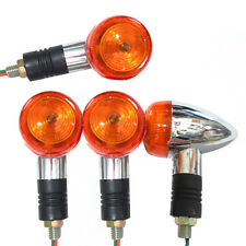 4x Bullet Turn Signals Lights For Suzuki Intruder Volusia Boulevard C50 C90 M90