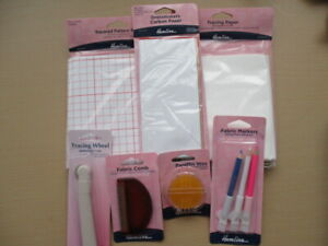 HEMLINE SEWING ACCESSORIES- Dressmakers Paper, Pencils, Comb, Wax, Tracing Wheel