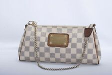 Auth Louis Vuitton Eva Azur Damier Handbag with COA