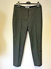 LK BENNETT LARIS DARK GREY COTTON BLEND ANKLE GRAZER TROUSERS SIZE 12
