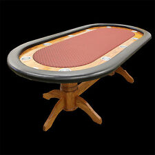 """96"""" Custom Poker Table Furniture style base color choice speed cloth stain vinyl"""