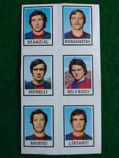 CALCIATORI 1974-75 74-1975 n 596 TARANTO 6 giocatori , Figurina Panini NEW