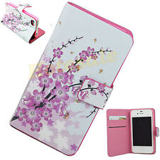 Folding Wallet Leather Pouch Flip Stand Cover Case For Apple IPhone 4 4S 4G 4GS