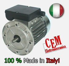 Motore elettrico 0,5 HP 0,37 kW 4 Poli 1400 giri MEC 71 B5 flangia Monofase 220V