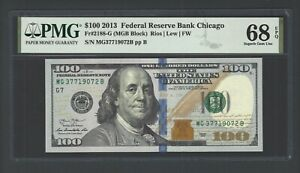 United State -Federal Reserve Note 100 Dollars 2013 F2188-G(MGB Block) Grade 68