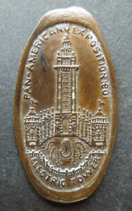 Pan-American Exposition 1901 Electric Tower Armour Shield Lard Elongated Cent