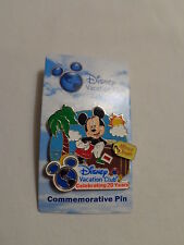 Disney Vacation Club Celebrating 20 Years Pin-2011 New on Card, w/ Mickey Mouse