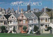 BF18683 san francisco victorian homes line street  USA  front/back image