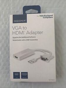 Insignia- VGA to HDMI Adapter - White NEW