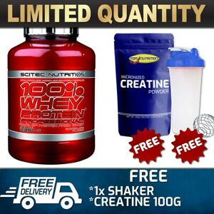 SCITEC NUTRITION 100% WHEY PROTEIN PROFESSIONAL 5LB //WPI WPC MUSCLE #