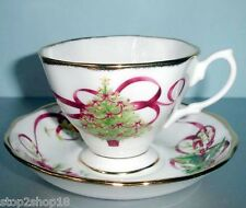 Royal Albert Old Country Roses Christmas Tree Tea Cup & Saucer New In Box