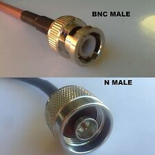 3 foot RG400 BNC MALE to N MALE Pigtail Jumper RF coaxial cable 50ohm High Qual