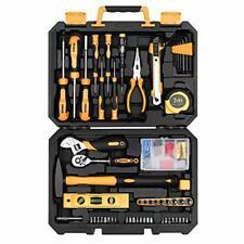 DEKO 138 Piece Home Tool Kit, Universal Repair Tool Set with Plastic Tool Box