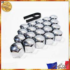 20x 17mm écrou de boulons roue chrome PEUGEOT 207 307 308 407 508 2008 3008 5008