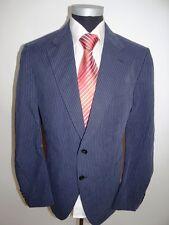 Joop Sakko Elegance Einreiher Blau Nadelstreifen Baumwolle Gr. 54