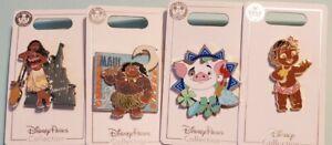 Disney Parks Moana 4 Pin Set Maui Pua