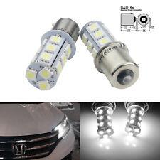 2x Ampoules 18 LED SMD Culot 1156 BAU15S PY21W Clignotants Feu de Recul Lampe