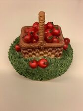 Our America Fall Apple Basket Candle Topper NE409