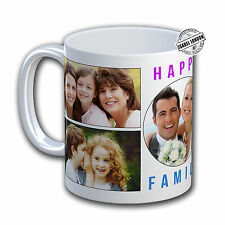 Personalised Photo Collage Mug. Customise with your own Photos and Text. IL5979