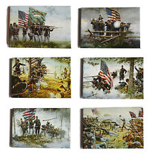 American Civil War Battle Of Gettysburg Dale Gallon Art 6 x Fridge Magnet Set
